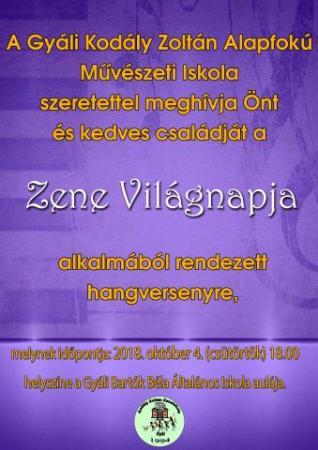 Gyáli Kodály Zoltán AMI, Zene Világnapja, koncert, hangverseny, Gyál Város